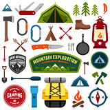 Camping symbols