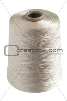 Silk yarn rolled coil