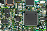 Circuit board PCB with CPU processor