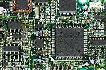 Circuit board PCB with CPU processor