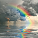 rainbow over ocean