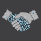 Industry hand shake