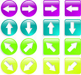 the color vector web arrow icon set