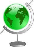 the vector green globe
