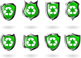 the set vector green shield