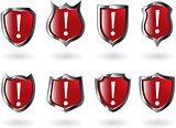 the set vector red shield