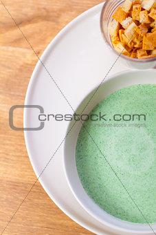 green soup of broccoli
