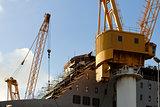 Ship under construction