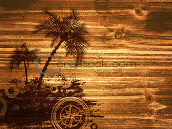 Travel Wooden Background