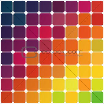 Abstract colorful rounded squares background. Vector, EPS10