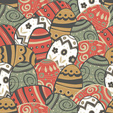 Seamless easter eggs pattern.