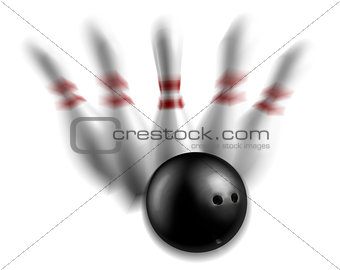Bowling pins strike