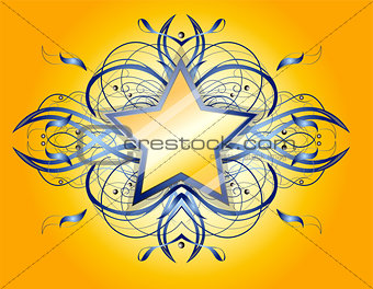 Abstract shape with star.