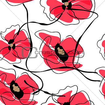Drawing vector flower