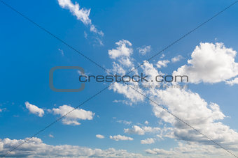 Blue sky shown horizontally