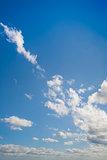 Blue sky shown vertically