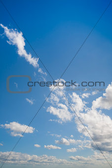 Blue sky shown vertically