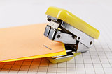Stapler and paper