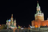 Night view of red Square