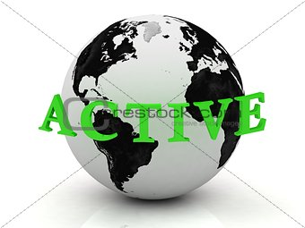 ACTIVE abstraction inscription around earth