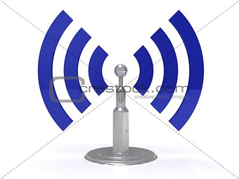 Abstract antenna on white background