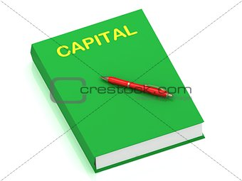 CAPITAL name on cover book