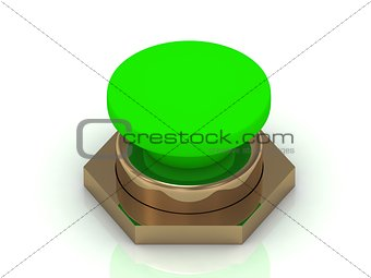 Green button Isolated