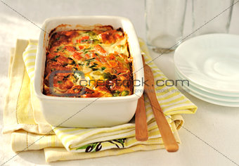 Salmon and Vegetable Bake