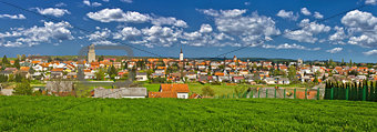 Town of Krizevci colorful panorama