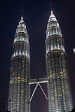 Petronas twin towers in Kuala Lumpur, Malaysia