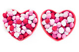 Two Heart Shaped Candy Dishes
