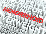 Hemorrhoid Concept.