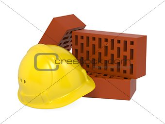 Safety Helmet and Bricks.