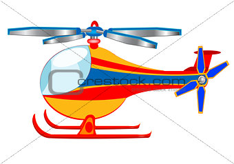 Illustration of the cartoon helicopter