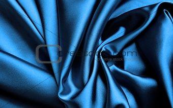 Blue silk.