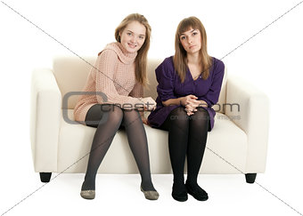 Two girls on the couch