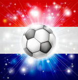 Dutch soccer flag