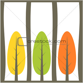 Tree background illustration