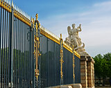 Sculpture fence Royal Palace in Versailles.