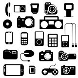 Icon  with  electronic gadgets. Vector illustration.