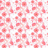 Elegance Seamless color pattern on background, vector illustrati