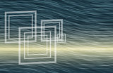 Artistic abstract wavy background with squares like windows
