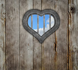 heart prison window