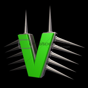 prickles letter v