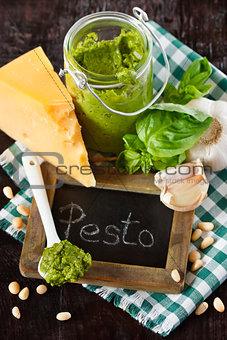 Pesto sauce.