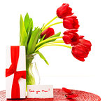 Red tulips for mother