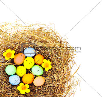 Easter eggs border