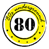 eighties underground stamp
