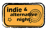 indie alternative night stamp