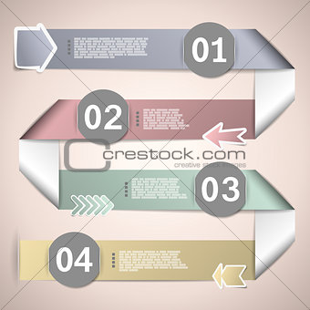 Infographic ribbons for data presentation eps10 vector illustrat